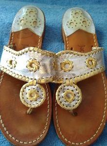 Jack Rogers mettalic sandals. Size 7